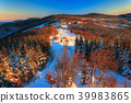 Winter landscape in the early morning. 39983865