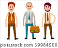Three Men of Different Looks Flat Cartoon Theme 39984900