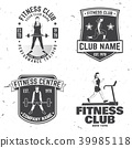 Set of fitness club badges. Vector. Concept for shirt or print, stamp, patch or tee 39985118