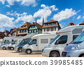 Close up motorhomes parked in a row 39985485