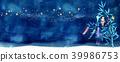 Tanabata background watercolor illustration 39986753