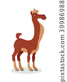 Llama Cartoon Icon in Flat Design 39986988