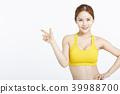 女運動服手勢 39988700