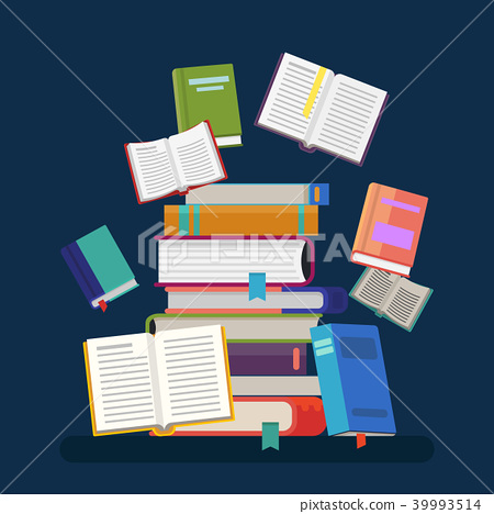 Textbooks with tassel and stacked books 39993514