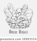 Bakery basket bread 39993554