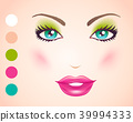 Vector illustration of a face 39994333