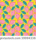 lemon pattern seamless 39994336