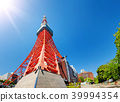 View to Tokyo tower in summer on blue sky background 39994354