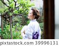 유카타, 일본 정원, 여성 39996131