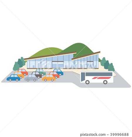 服务区停车场图 39996688