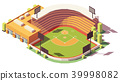 Vector isometric low poly baseball park 39998082