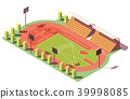 Isometric, vector, stadium 39998085