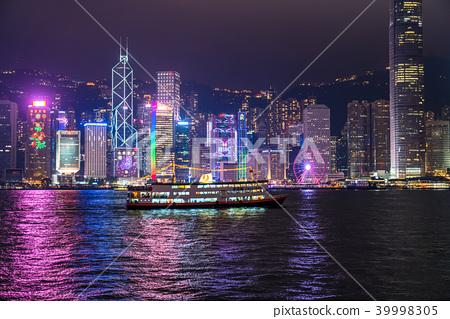 """""""香港""""港島夜景 39998305"""