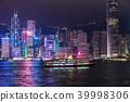 ฮ่องกง,ประภาคาร,ภาพถ่ายอาคารช่วงค่ำ 39998306