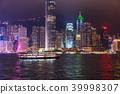 ฮ่องกง,ประภาคาร,ภาพถ่ายอาคารช่วงค่ำ 39998307