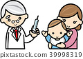 Baby and mom receiving doctor's injection 39998319