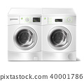Vector realistic front-load washer and dryer 40001786