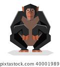 Flat geometric Chimpanzee 40001989