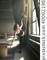 Sportive girl yoga training 40002196