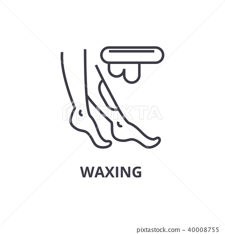 waxing thin line icon, sign, symbol, illustation, linear concept, vector  40008755
