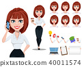 business woman cartoon 40011574