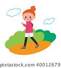 산책 공원 여성 40012679