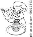 pig,baker,cartoon 40012843