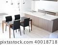 신축 주택의 거실 식당 40018718