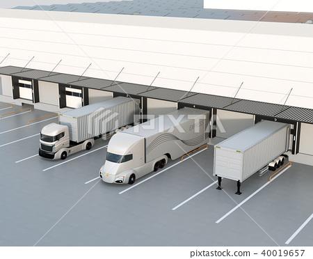 물류, 물류 센터, 트럭 40019657