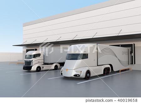물류, 물류 센터, 트럭 40019658
