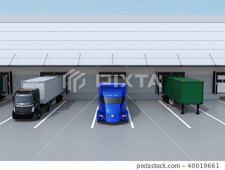 물류, 물류 센터, 트럭 40019661