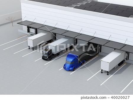 물류, 물류 센터, 트럭 40020027