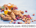Natural peanut with oil in a glass 40020883