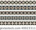 无缝的 装饰性的 边界 40023311