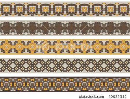 Seamless decorative borders 40023312