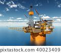 Oil platform 40023409
