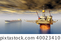 Oil platform and supertanker 40023410