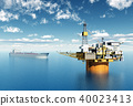 Oil platform and supertanker 40023413