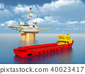 Platform supply vessel and oil platform 40023417