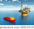 Platform supply vessel and oil platform 40023419