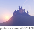 Silhouette of a castle 40023420
