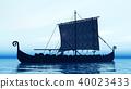 Viking ship at dawn 40023433