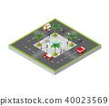 city,isometric,intersection 40023569