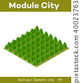 Isometric 3d park with a green 40023763