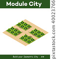 Isometric 3d park with a green 40023766