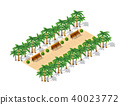 Isometric 3d park with a green 40023772