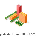 Colorful 3D isometric city 40023774