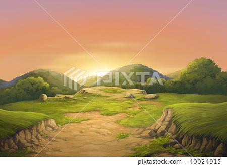 Sunset on the beautiful cliffs. 40024915