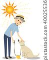 老人中暑措施狗步行 40025536