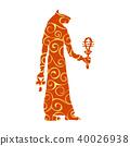 God Bastet cat egyptian pattern silhouette ancient egypt 40026938